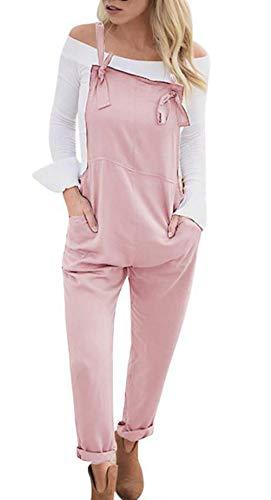 Wamvp Mujer Peto de Pantalones Largos Casual Tirantes Suelto Mono Bolsillos Playa Fiesta Noche Cóctel para Mujer Mono