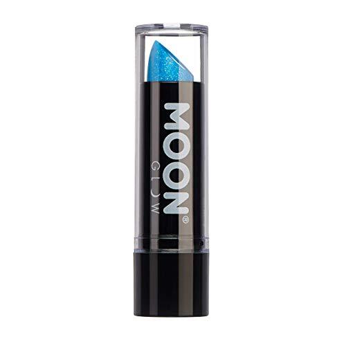 Moon Glow - 5g Neon UV Glitzer-Lippenstift - Blau - Leuchtet hell in UV-Licht