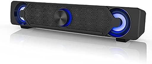 Computer Speakers,Smalody PC Speaker Mini Led Soundbar Cool Design Perfect for Monitor Gaming Laptop Desktop Notebook