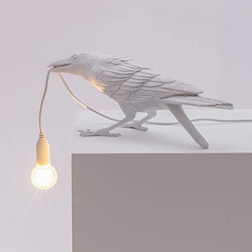 HONGLONG Italian Bird Wall LampHome Deco table lampResin Table LightAnimal Furniture Bird Lights for Restaurant, Store, Cafe, Bar, Bedside Decor,white table lamp
