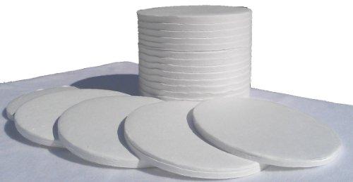 Nevada Weighing Brand Glass Fiber Sample Pads for Moisture Balance Analyzers - 90mm - 200 Count Box