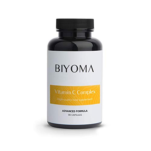 BIYOMA - 5 in 1 HIGH DOSE 375% NRV of Vitamin C per Capsule! Potent antioxidant, Enhanced Absorption. Powerful Blend of Natural Ingredients. 90 Day Supply.