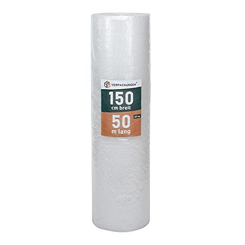 BB-Verpackungen 3 x pluriball a 2 strati 1,5 x 50 m (60 my di spessore, protezione per oggetti delicati) – Set tra 1 e 4 rotoli