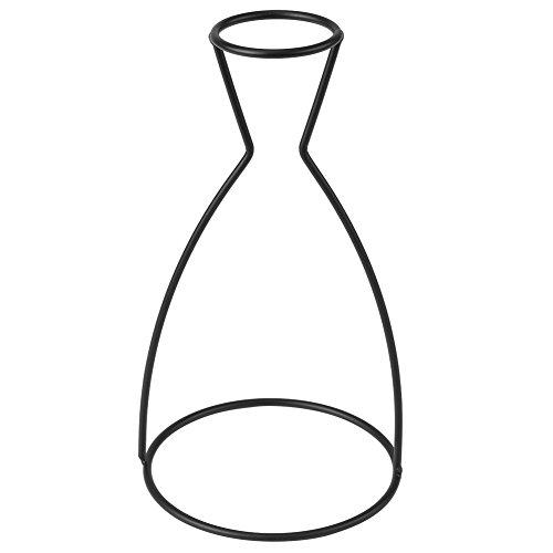 Moderno metallo cubo telaio fioriera ciotola minimalista vaso di metallo forme creative nero metallo fiore vaso telaio supporto pianta caffè decorazione casa (A)