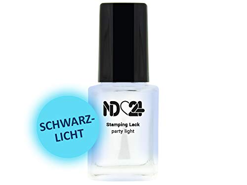 Stamping Nagellack Lack Party Light - Nachtleuchtend - Hochpigmentiert - Made In Germany - 12ml