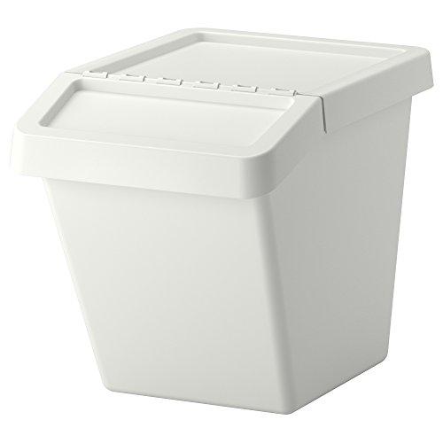 IKEA.. 702.558.99 Sortera - Reciclaje con Tapa, Color Blanco