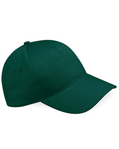 Beechfield Herren Baseball Cap, Einfarbig Flaschengrün (Verde Botella) One Size