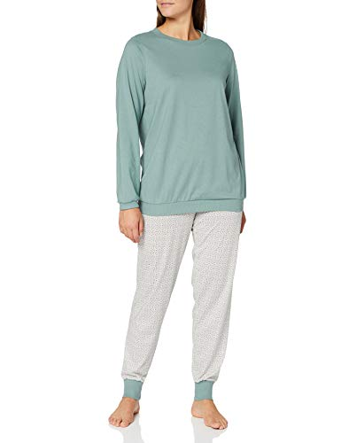 CALIDA Damen Late Summer Dreams Pyjamaset, Eucalyptus, S