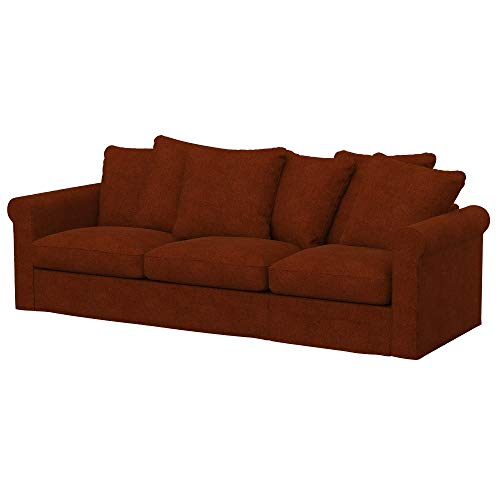 Soferia Funda de Repuesto para IKEA GRONLID sofá Cama de 3 plazas, Tela Strong Copper, Naranja