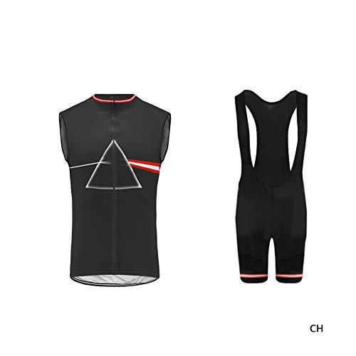 Uglyfrog-Diseño de Patrón de Refracción Triangular MTB Ciclismo Maillot Hombres Jersey + Pantalones Cortos Culote Sin Mangas de Ciclismo Conjunto de Ropa Maillot Bici Libre Ciclo Bicicleta ESH19VS07