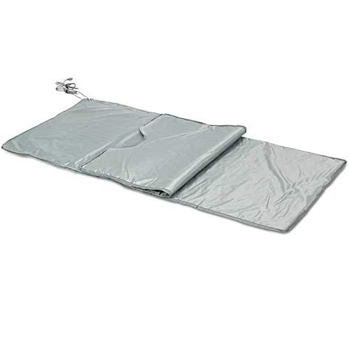WGIRL Weit Infrarot-Sauna-Decke, 2-Zonen-wasserdichte Oxford-Gewebe-Entgiftungsdecke Mit Sicherheitsschalter Für Körperform, Der Fitness Abnimmt