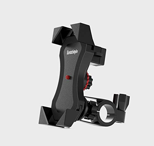 JEANGO Soporte Movil Bicicleta Universal, Soporte Giratorio de 360 ° para teléfono Soporte Movil Bici, Soporte Ajustable y extraíble para teléfono de Motocicleta
