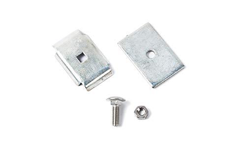 Mattenverbinder/Verbindungs-Klammern/Eckverbinder aus verzinktem Stahl zum Verbinden von Doppelstabmatten mit Einer Drahtstärke von 8/6/8 mm ohne Zaun-Pfosten.