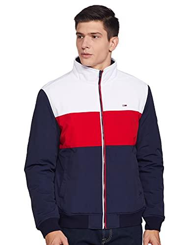 Tommy Hilfiger Men's Casual Regular Jacket (A0ATO117_Twilight Navy / Multi_L)
