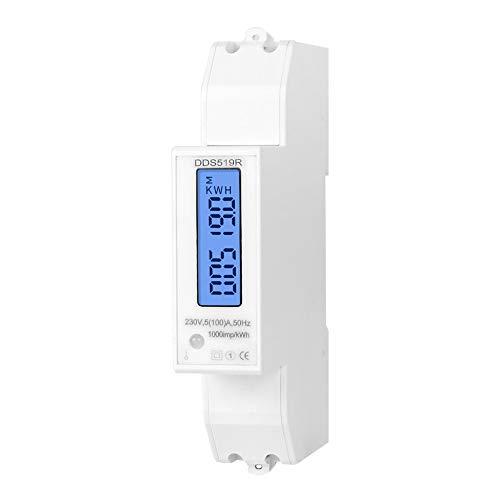 gfjfghfjfh Mudbus 18mm Medidor de Potencia Digital de Tama?o Mini Medidor de vatios monof¨¢Sico Carril DIN con luz de Fondo AC 5-100A 230V
