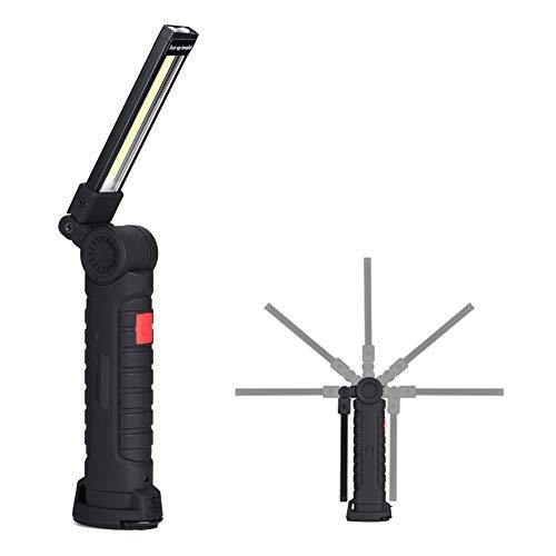 Wiederaufladbare USB Work Light - Dewin Tragbare COB LED Arbeitsleuchte mit magnetischem Ständer und 360 ° drehen 5 Beleuchtungsmodi, Pocket LED Light