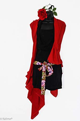 Multifunktions Tuch von Kalima in Rosen Rot, Grün, Schwarz, Braun oder Lavendel, 110x 190 cm groß. 100% Baumwolle