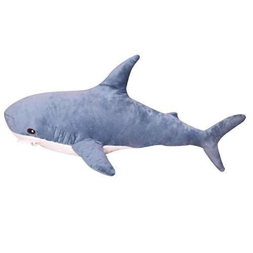 WNSS9 100cm Beau Big Shark Doux en Peluche Poupées Peluche Oreiller Chambre Canapé Décoration Cuddle Copain en Peluche Convient for Les Enfants de 3 Ans et Plus, garçons et Filles