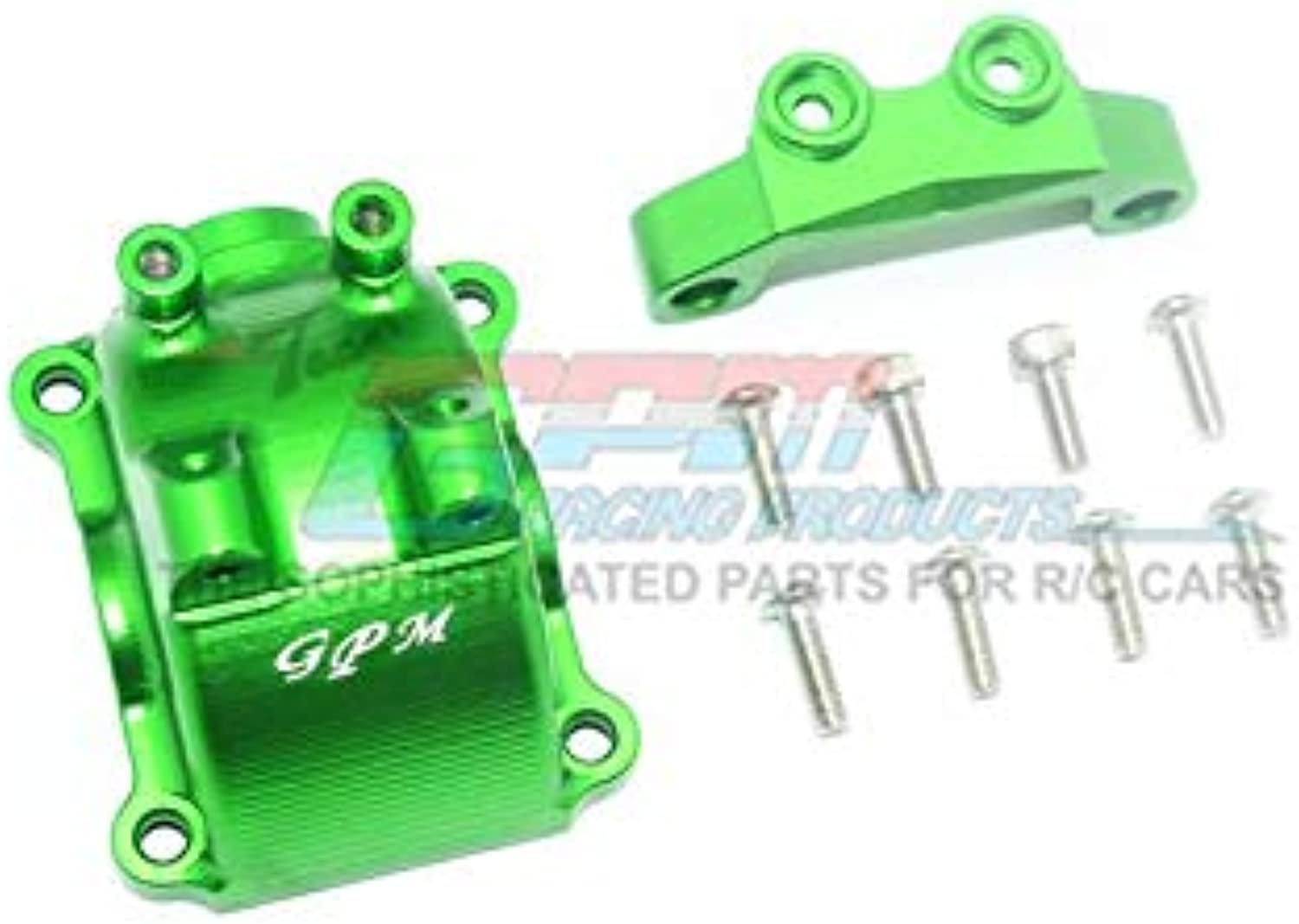 Tamiya TT-02   TT-02T Upgrade Parts Aluminum Front Or Rear Gearbox Cover + Upper Arm Stabilizer - 1 Set Green
