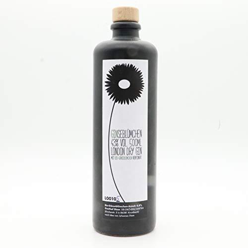 Ginseblümchen Gin; Schwäbischer Gin mit Bio Gänseblümchen (1 x 0,5 l) (78 € / L)