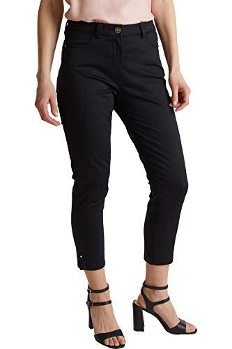 ESPRIT Collection Damen 040EO1B320 Hose, 001/BLACK, 38