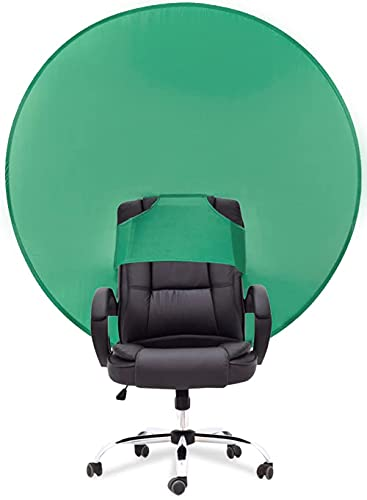 PRYMALL Pop Up Green Screen Background for Chair Portable Collapsible Backdrop Circular Attachment (50x50)
