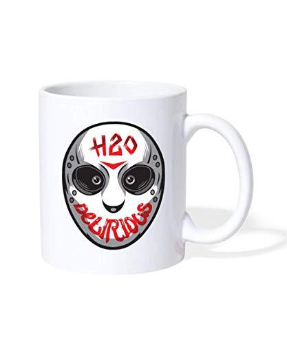N\A Taza H2O Delirious Scary Mask, Blanco
