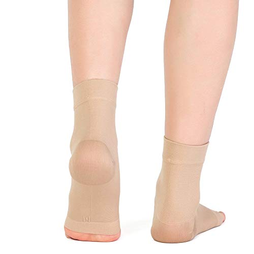 1pair Compression Ankle Support Sleeve, Eyotto Medical Breathable Ankle Brace Elastic Thin Ankle Brace for Pain Relief, Arthritis, Recovery, Weak and Ankle Injury