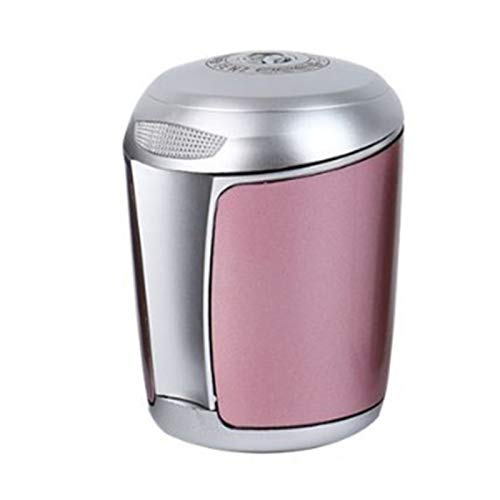 YESBAY Car Ashtray, Creative Car Smoking Ashtray Compatible with Mercedes-Benz Flame Retardant with LED Light Pink