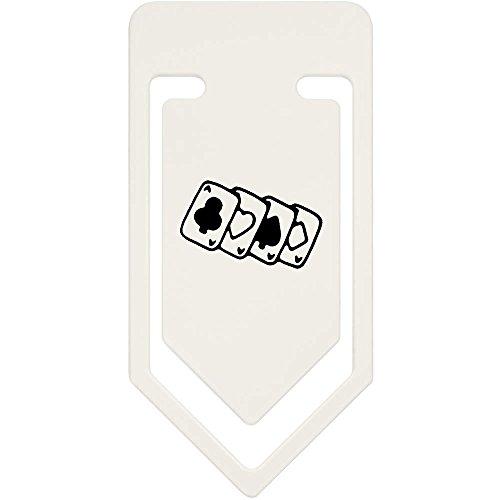 Azeeda 91mm 'Kartenspielen' Große Plastik Büroklammer (CC00037330)