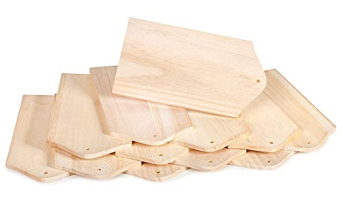 12 Frühstücksbretter Holzbrettchen Holz Schneidebrett Küchenbrett Brot Küchenutensilien VBS Großhandelspackung
