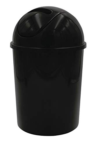 RIDDER 2011610 Poubelle, Polypropylène, Noir, env. Ø 19 x 31 cm