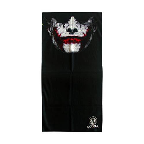 Bandana Joker Batman Schwarz | Stretch | 140gsm anti-UV Polyester | 25 x 50cm | Bedrucktes Multifunktionstuch I Face Shield aus Mikrofaser- fürs Motorrad-, Fahrrad- und Skifahren (The Joker (Batman))