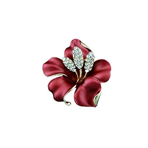 caihuashopping Mujer Broches Rhinestone Temperament Flower Personality Broche, Flor de Rosa Mujer Broche Pin, suéter de Mujer Broche 4.9 * 5.1cm JoyeríA De Moda
