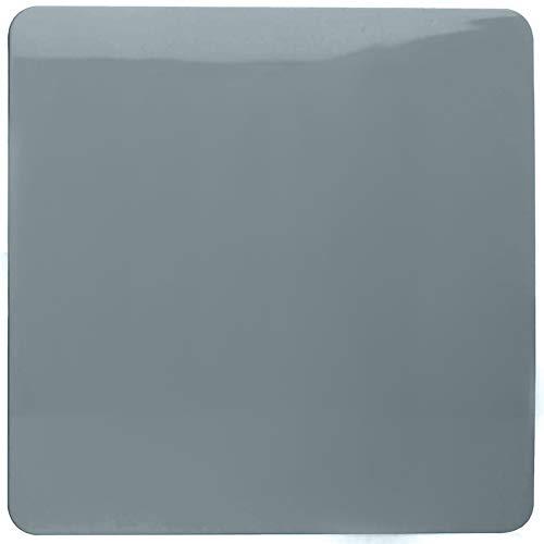Trendi Artistic Modern Glossy Tactile Single Blanking Plate Cool Grey