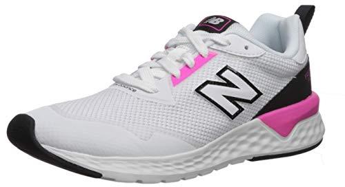 New Balance Women's Fresh Foam 515 Sport V2 Sneaker, White/Peony/Black, 5 M US