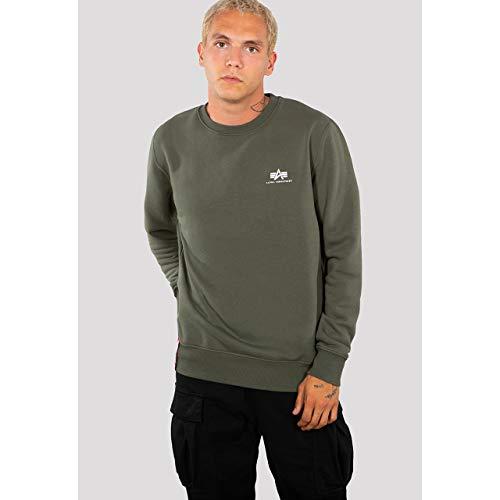 Alpha Industries Basic Sweater Small Logo Herren 188307 Dark Olive XS