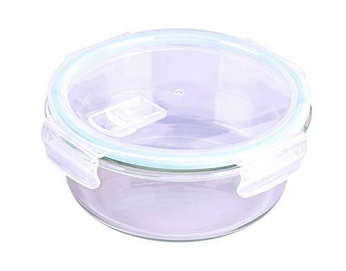 Steuber Cloc Frischhaltedose aus Glas, 950 ml, rund, Glas bis 400°C