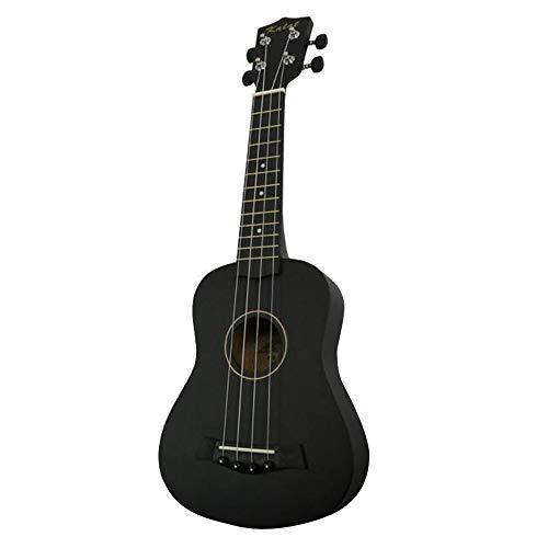 Ukulele 21 Zoll 12 Saiten Basswood Konzert Ukulele Sopran Sopran Ukulele Gitarre Viersaitige Hawaiianische Gitarre (schwarz)