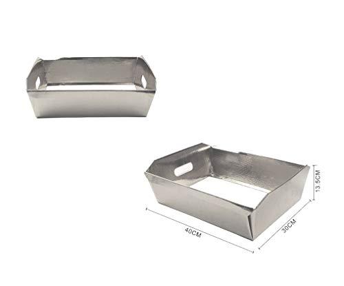takestop® rechthoekige gouden zilveren papieren mand geschenkverpakkingen Hampers DIY kerstdecoratie geschenken Pack