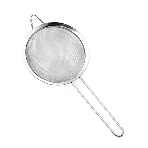 Mehlsieb aus Edelstahl, feinmaschig, Ölsieb, Mehlsieb, Sieb zum Selbermachen, Küchen-Backwerkzeug – 14 cm