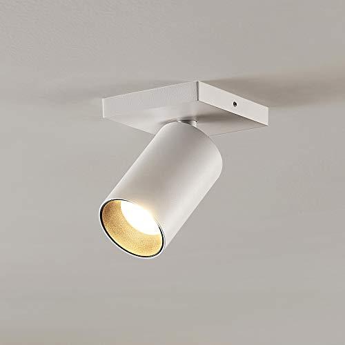 Arcchio Strahler 'Brinja' dimmbar (Modern) in Weiß aus Metall u.a. für Flur & Treppenhaus (1 flammig, GU10, A+) - Deckenlampe, Deckenleuchte, Lampe, Spot, Flurleuchte