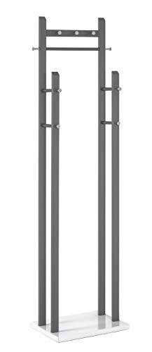 Haku-Möbel Garderobenständer, Stahlrohr, anthrazit-weiß, 35 x 51 x 181