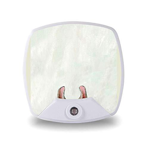 Lámpara LED de noche con sensor inteligente de atardecer a amanecer, SP toalla Llama lámpara blanca cálida para niños escaleras, pasillo de cocina, dormitorio