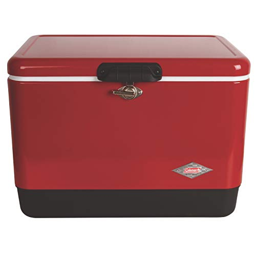 Coleman Cooler | Steel-Belted Cooler Keeps Ice Up to 4 Days | 54-Quart Cooler for Camping, BBQs,...
