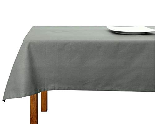 Wosde Tessuti di Toscana - Mantel de tela de algodón, fabricado en Italia, estilo shabby chic, para mesa rectangular de cocina (140 x 180 cm)