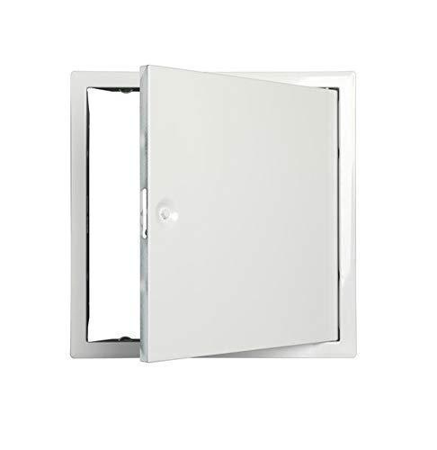 Tapa de Inspección Puerta Revisión Chapa de Acero Galvanizado con 4-Kantverschluss Blanco Ral 9016 - Blanco Ral 9016, Schlüssel 7mm vierkant für Revisionsklappe
