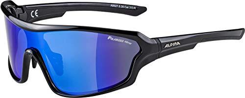 ALPINA LYRON SHIELD P Sportbrille, Unisex– Erwachsene, black, one size