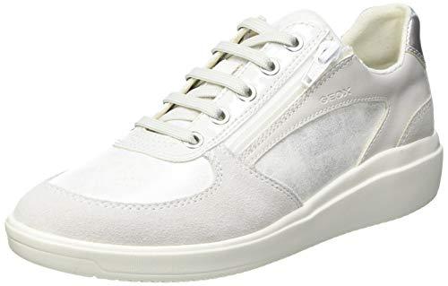 Geox D TAHINA A, Zapatillas Mujer, Color Blanco, 38 EU