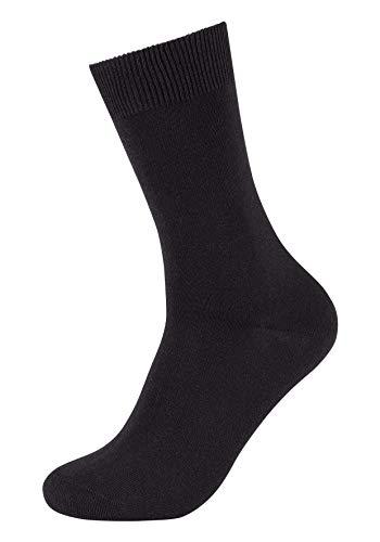 Camano Socken Damen & Herren (3x Paar) in Schwarz mit Baumwolle Größe 39-42